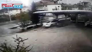 Denizli de Kaza Anı Kamerada Araç Kamyonun Altında Kaldı Denizli Haberleri HABERDENİZLİ COM