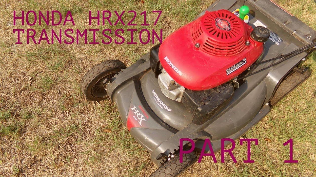 honda hrx tda transmission removal installation part  youtube