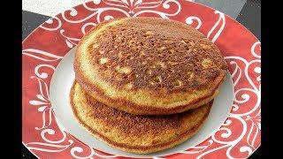Banana Oatmeal Pancakes - Sugar Free Healthy Pancakes