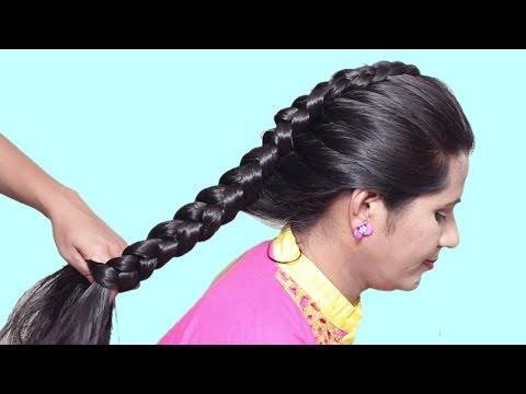 Easy Everyday Side Puff Hairstyle | How to do Braid Hairstyles for long hair | Hairstyles tutorial thumbnail