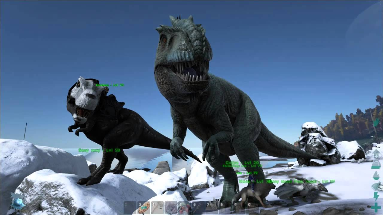 ARK Survival Evolved The Size Comparison to the giganotosuraus ...