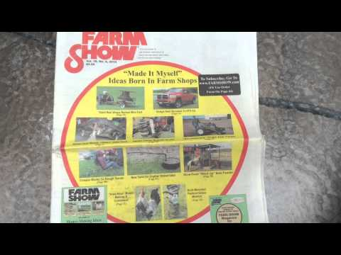 Farm Show Magazine Does A Great Article On the Rain Gutter Grow System! Get a Free Copy!