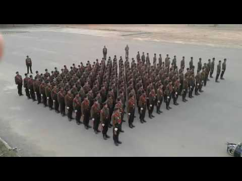 Indian army garhwal rifle training session- drill at lansdone