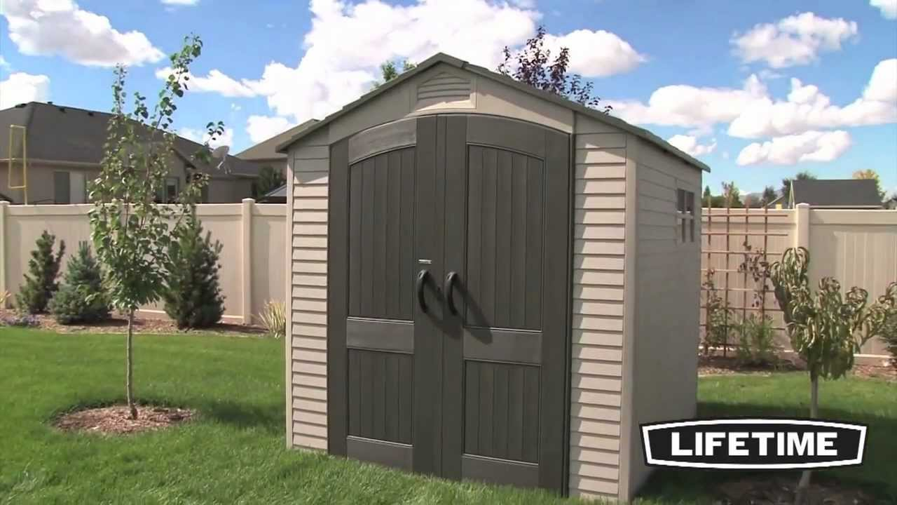 lifetime 6001460042 lifetime 7x7 storage shed epic shed reviews youtube - Garden Sheds 7x7