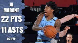 Check out highlights of ja morant's 22-point, 11-assist performance for the memphis grizzlies vs. portland trail blazers.#nba #nbahighlights #jamorant☑️ ...