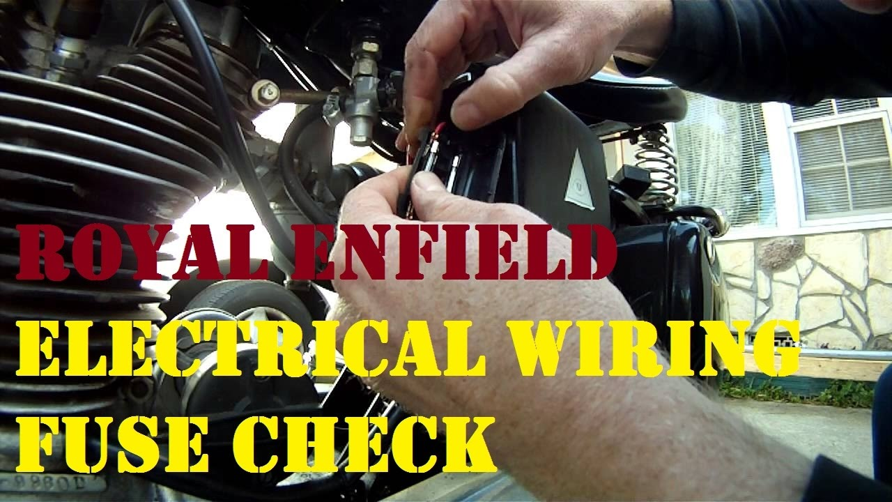 how to check electric wiring problems in all bullets !!! by bullet guru /  fuse check in re