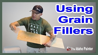 How To Fill Grain In Wood.  OAK Kitchen Cabinet Makeover.