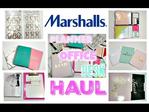 Marshall's Haul | Home Decor, Office, Desk, Planner Supplies Haul