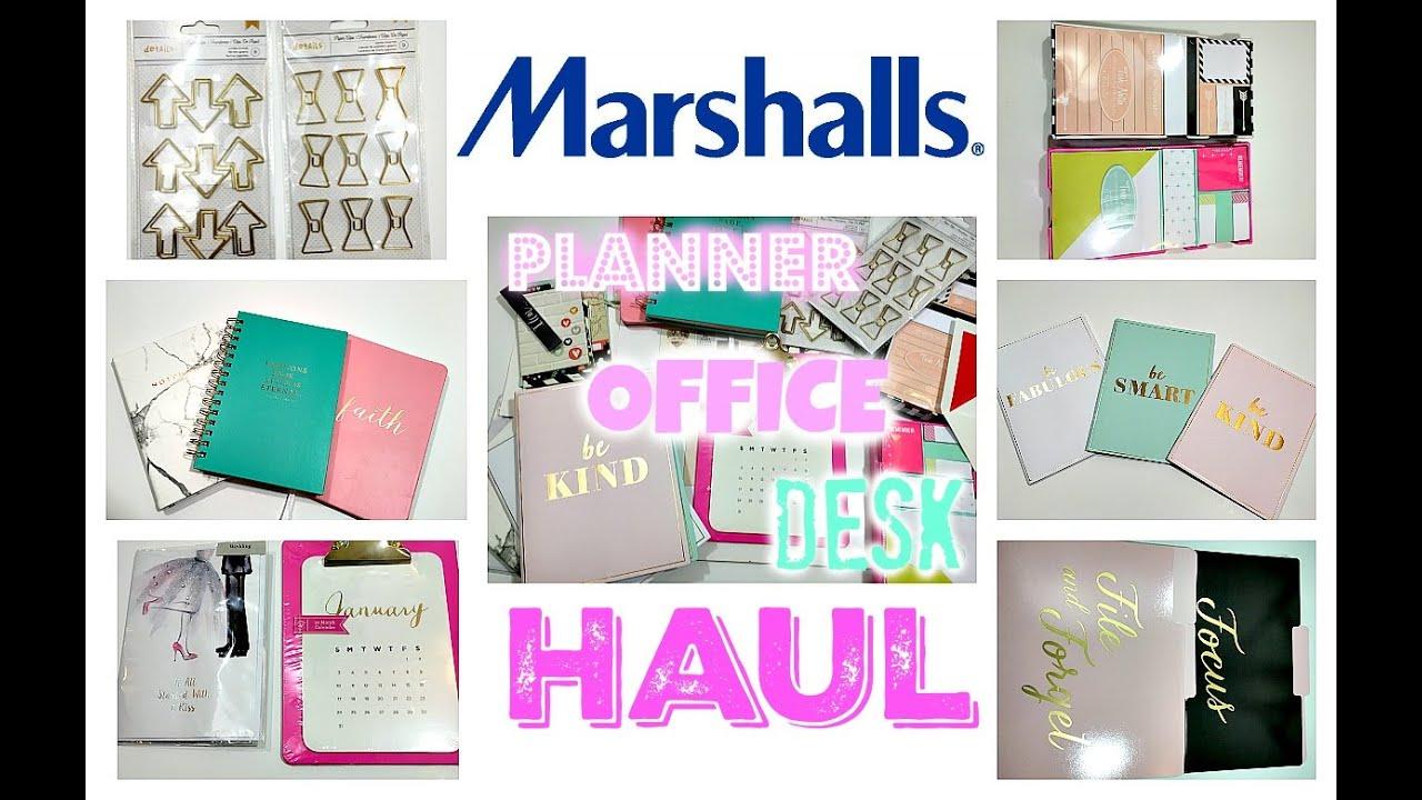 marshalls haul home decor office desk planner supplies haul - Home Decor Planner