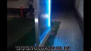 видео Декоративные водопады по стеклу