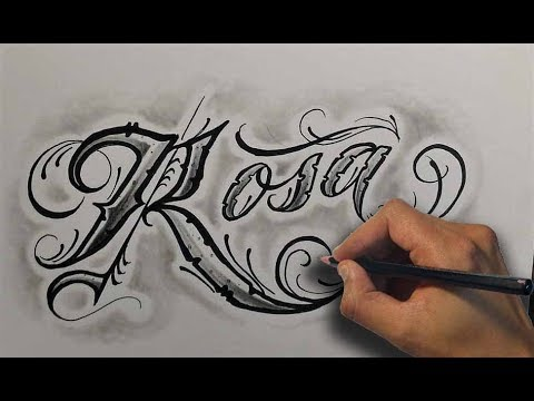 Dibujando Letras Chicanas Rosa Drawing Chicano Lettering Nosfe Ink Tattoo