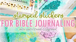Create Clear Stickers with Unity Stamps for Bible Journaling