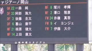 (岡山選手紹介)松本山雅vsファジアーノ岡山 2018031