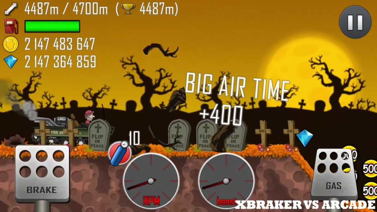 Hill Climb Racing : Super OFFROAD - HAUNTED map | Halloween Pumpkin And Zombie Obstacle