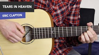 TEARS IN HEAVEN Guitar Lesson Tutorial - Eric Clapton (no barre chords!)