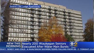 Water Main Burst Forces Seniors Out Of Waukegan Apartment Complex