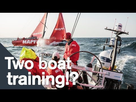 MAPFRE and Dongfeng train together in Sanxenxo | Volvo Ocean Race