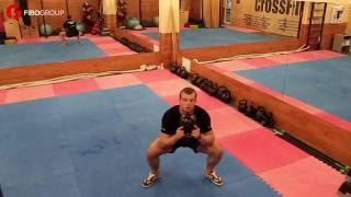 Тренировка с гирей, для начинающих.(Тренировка с гирей, для начинающих. Небольшой комплекс упражнений с гирей, который поможет вам освоить..., 2016-08-05T12:18:26.000Z)