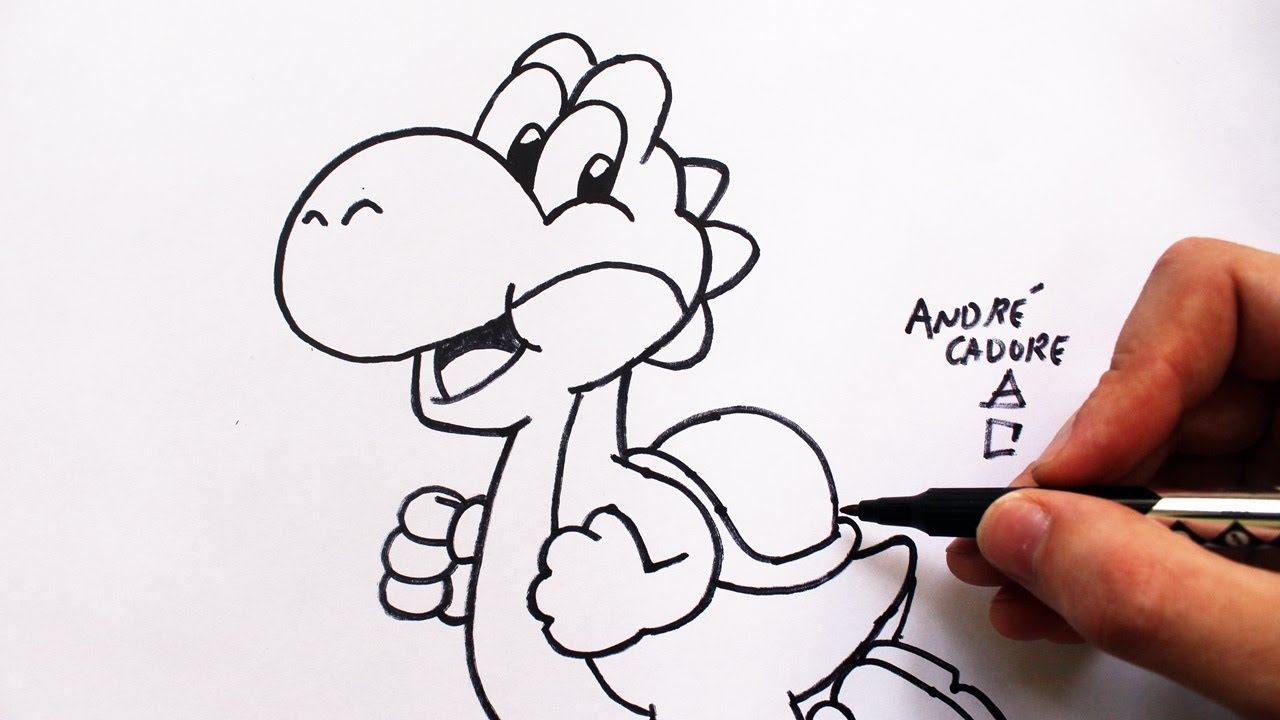 Como Desenhar O Yoshi Super Mario How To Draw Yoshi Slay