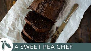 Healthy Chocolate Zucchini Bread | A Sweet Pea Chef