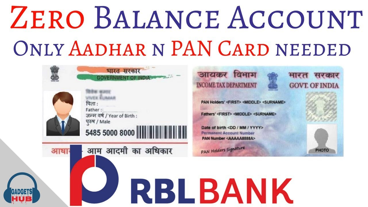 Rbl Bank Zero Balance Account Register At Home In 5min Free