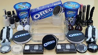 OREO SLIME ! Mixing Makeup and Random Things Into Clear Slime,Satisfying slime videos ASMR