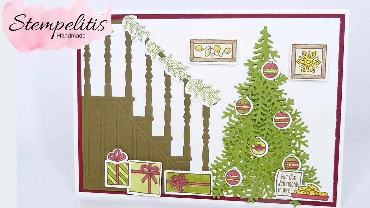 Stampin\' Up! Weihnachtskarte Vorfreude von Stempelitis - YouTube