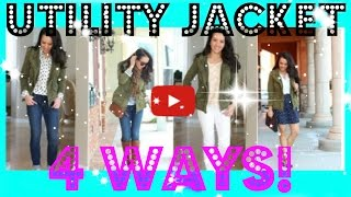 HOW TO: Wear a Utility Jacket Four Ways