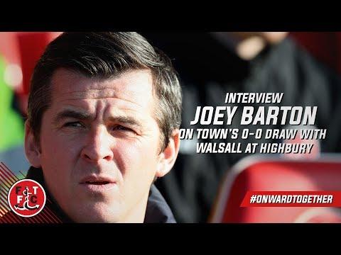 Joey Barton on Walsall draw | Post Match