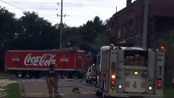 Coca Cola truck plows into Jacksonville building near downtown. 4 people injured.