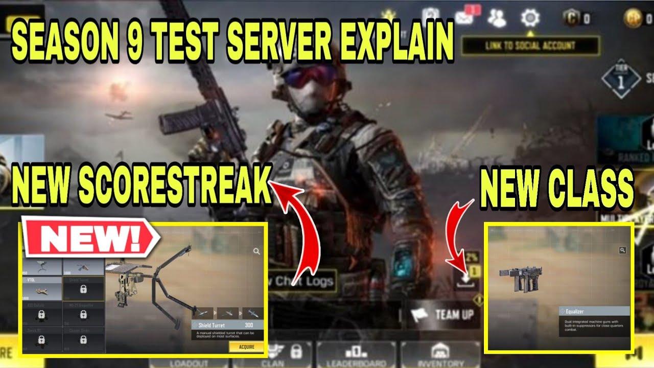 Cod Mobile Season 9 Test Server Link Season 9 Test Server Full