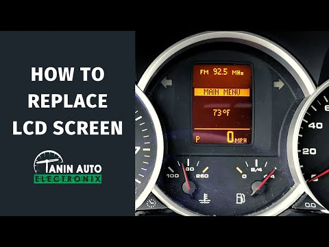 How to Install & Repair LCD Screen on a 2003-2010 Porsche Cayenne & Volkswagen Touareg Cluster | TAE