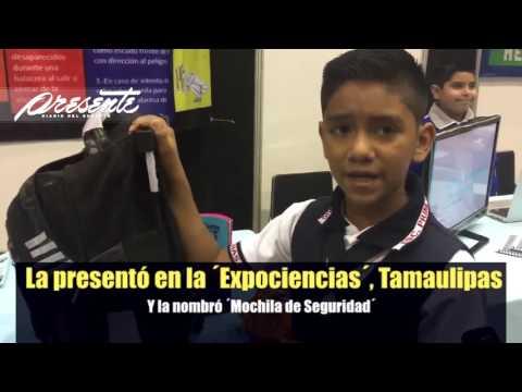 Niño crea Mochila Antibalas en Matamoros, Tamaulipas