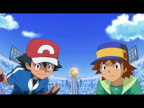 Pokemon Battle USUM: Kalos Ash Vs Ritchie Pokemon Ash Rival Fight