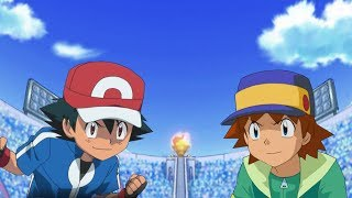 Pokemon Battle USUM: Kalos Ash Vs Ritchie (Pokemon Ash Rival Fight)