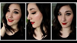 Date Night Tutorial Featuring Big Lashes, Glowy Skin + Red Lips Thumbnail