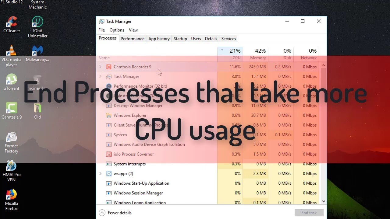 How To Fix High CPU Usage On Window 10/ 8/ 7 2019 - Travel Online