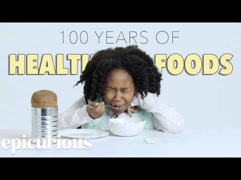 Kids Try 100 Years of Health Foods