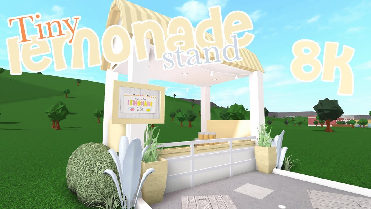 Bloxburg Lemonade Stand Speed Build Youtube