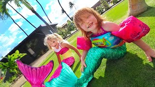 ADLEY PRINCESS ARIEL MAKEOVER!! the little mermaid in real life with Dorothy Gee