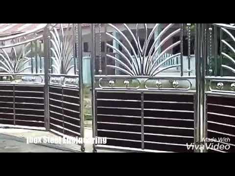 Pagar Rumah Minimalis Stenlis  pintu pagar stainless steel youtube