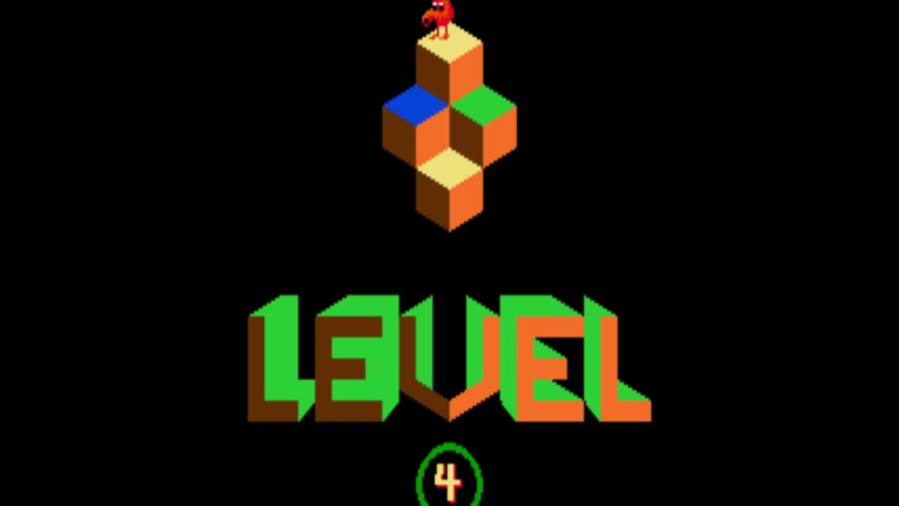 QBert gameplay - 1st Qbert death at 395,615