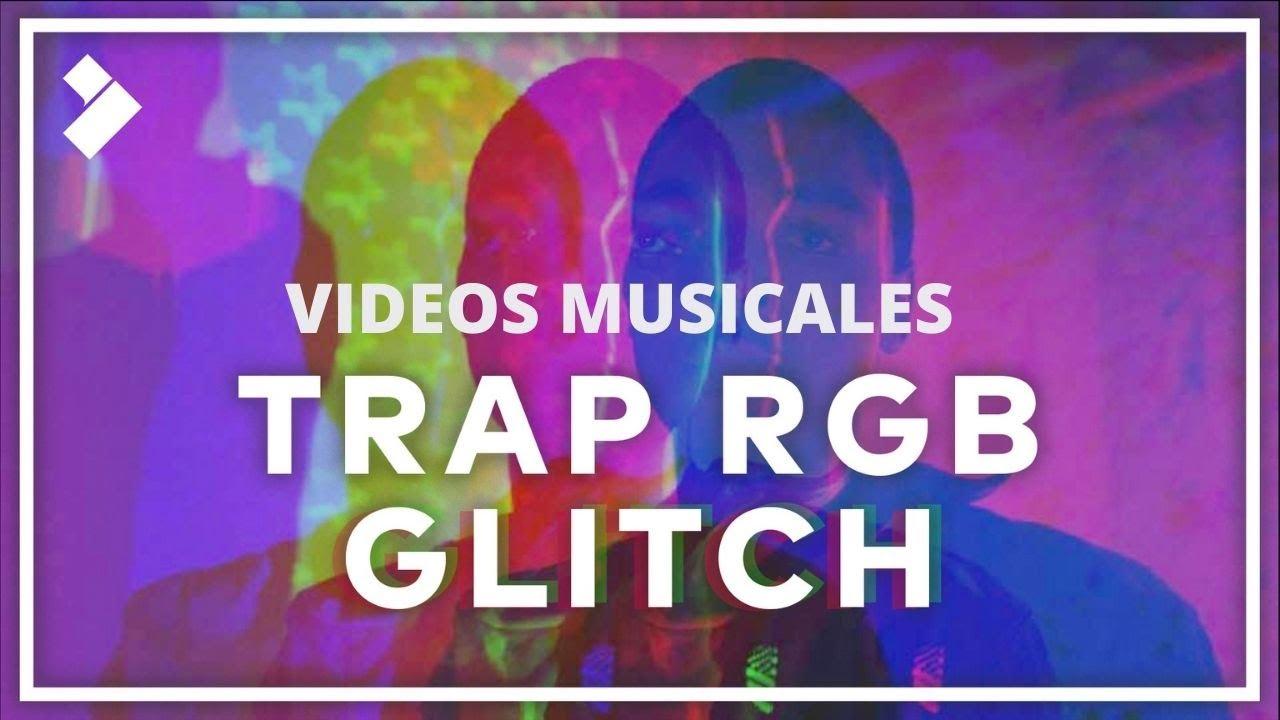 🤩Efecto TRAP GLITCH RGB | Filmora - Serie de Música