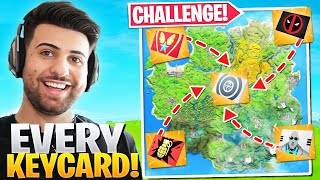 I Collected *EVERY* Vault KEYCARD! (Fortnite Battle Royale Challenge)