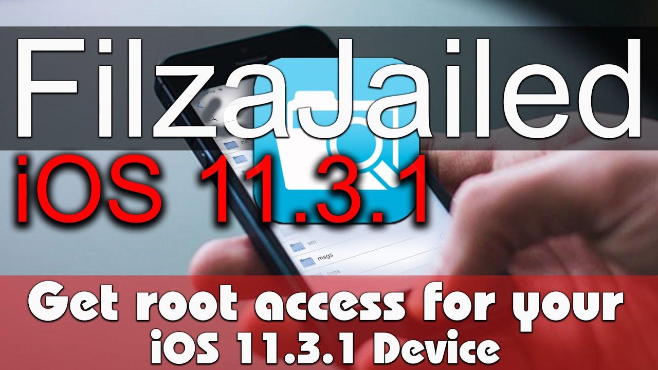 Rootless Jailbreak & Tweakes for iOS 11 3 1 ( Filza Root Access ) by Pangu8