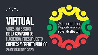 Vigésima Sesión Comisión de Hacienda, Presupuesto, Cuentas y Crédito Público - 21 Oct. 2020