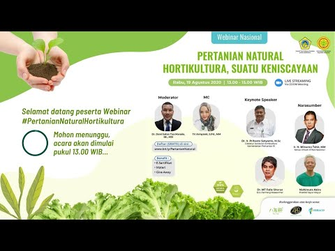 Webinar KTNA Pertanian Natural Hortikultura