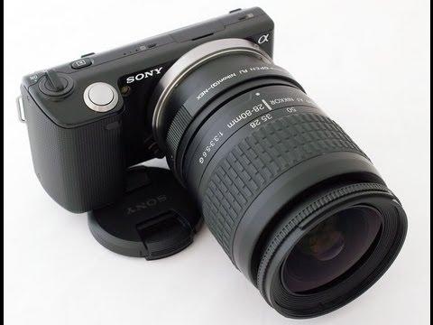 adaptando lente na sony nex youtube rh youtube com Sony NEX F3 vs 5R New Sony NEX