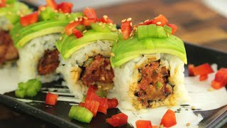 Spicy Kimchi Duck Sushi Roll Recipe - How to make sushi