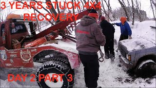 3 YEARS STUCK EPIC 4X4 RECOVERY Day 2 part 3 by BSF Recovery Team